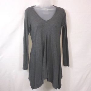 CAbi Dark Gray Asymmetrical Tunic Top